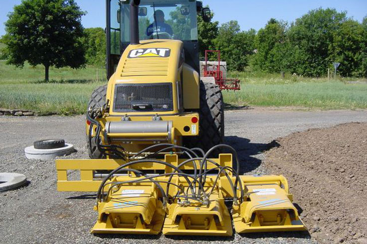 Stehr Plate Compactor On Road Roller
