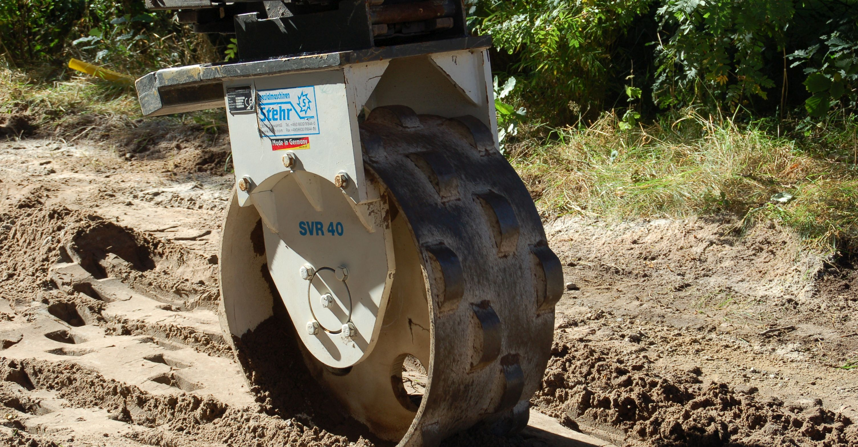 Stehr SVR 40 HF Excavator Mounted Compaction Wheel